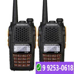 Kit 2 Radio Ht Walk Talk Dual Band Uhf Vhf Fm Baofeng Uv6r