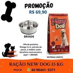 Ração cães Adultos 15 kg New Dog
