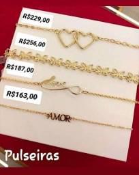 Pulseiras Femininas Rommanel Folheadas à Ouro 18k