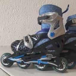 Patins Infantil Inline Roller Derby Tracer Ajustável
