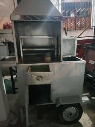 Carrinho/churrasco, forno/pizza, vitrine e chapa!