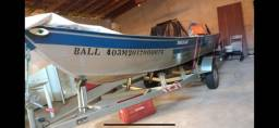 Título do anúncio: Barco Alumínio Motor  YAmaha 40