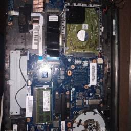 Placa mãe com processador I5, memória raw 4gb, HD 500gb