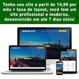 Criação de site profissional moderno e responsivo