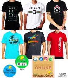Título do anúncio: Camisas Masculinas Adulto em algodão