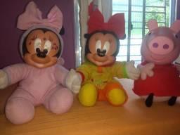 Título do anúncio: Trio de bonecas Minei e Peppa original