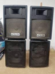 Vendo/Troco Caixas de Som Profissional - 2 Caixa Ativa Leacs VIP400 e 2 Passivas Wordstar