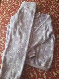 Pijamas quentinhos adultos e crianças