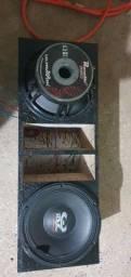 Caixa com falantes ultravoz 650rms de 12