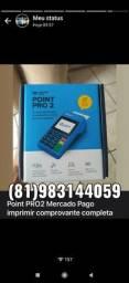 Maquininha de cartão Point PRO2 mercado pago, imprimir comprovante