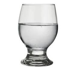 Taça para água 250ml em vidro transparente - 17 UNID (R$ 4,00/cada)