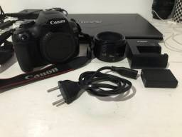 Câmera Cânon T6 + Lente 50mm