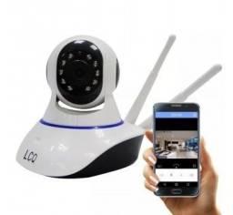 Camera Ip Robo P2P Visão Noturna Wireless Micro Sd Giratória