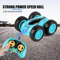 Título do anúncio: Mini carro bomba luz de quatro rodas com controle remoto , alta velocidade supla face