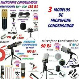 Microfone Condensador Profissional para Gravações Live etc. ( Loja Fisica )