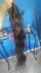 Aplique de cabelo 150 grama 70 cm
