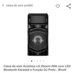Caixa de som acústica LG Xboom