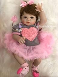 Título do anúncio: Bebê Reborn Wendy Silicone Pronto Envio! Com Enxoval