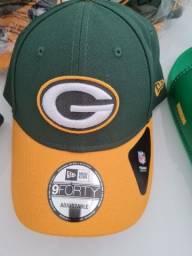 Boné Green Bay Packers - Aba Reta ou Curva - Oferta