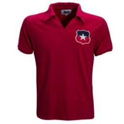 Título do anúncio: Camisa Chile 1966 Masculina Retrô