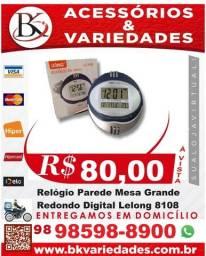 Título do anúncio: Relógio Parede Mesa Grande Redondo Digital Luxo Lelong 8108