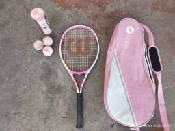 Raquete de tênis WILSON + 3 BOLAS