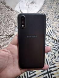 Samsung A01 Tela trincada igual tá na foto