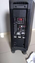 Caixa de som portátil trc 800 watts de potencia