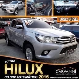 Título do anúncio: Toyota Hilux Cd Srv Automático 2016 Turbo Diesel