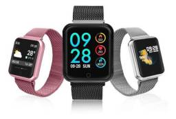 Relógio Smartwatch P70 Monitor Cardíaco Pressão Arterial Android IOS<br><br>