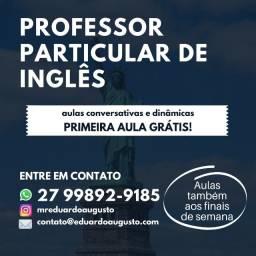 Título do anúncio: Professor particular de Inglês (básico, intermediário e avançado)