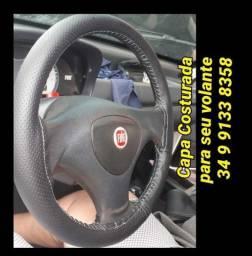 Capa costurada no seu volante