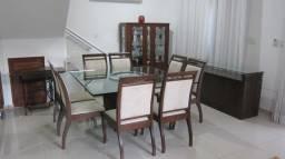 Conjunto de mesa e 8 cadeiras - sala de jantar