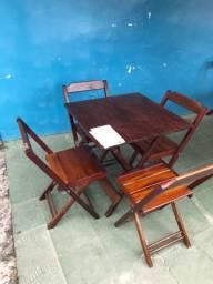 R$ 599 Mesa + 4 cadeiras para bar/restaurante