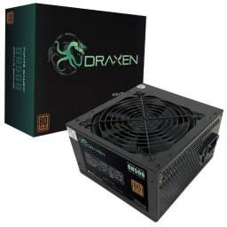 Fonte Gamer Draxen Atx 500w 80 Plus Bronze Pfc Ativo