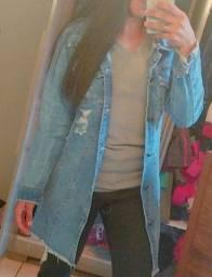 Jaqueta jeans longa
