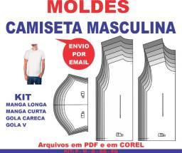 Molde Modelagem Camiseta Costura