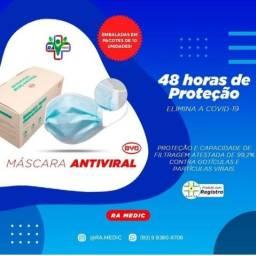 Máscara Tripla Proteção Descartável Cirúrgica 50 unid.