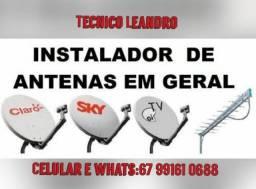 Instalador e reparador de antenas