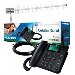 Telefone rural completo com 15 metro de cabo + antena 17 dbi - Novo - Entrega Gratis