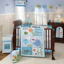 Decoração para quarto do bebê com tema Fundo do Mar