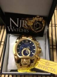 Relógio invicta zeus magnum azul novo lindo