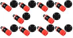 Plug Speakon Embalagem com 10 Machos e 10 Fêmeas
