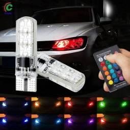 Lâmpada pingo LED RGB controle remoto