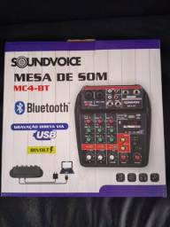 Mesa De Som Compacta Soundvoice Mc4 bt