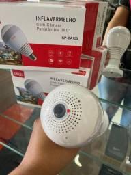 Câmera IP Wi-fi Panorâmica 360 Graus-(Lojas Wiki)