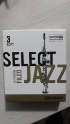Palheta D'addario para Sax soprano - número 3 Soft - 10 unidades