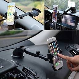 Suporte Celular Carro Veicular Trava Automática Anti Queda