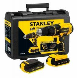 Parafusadeira e Furadeira de impacto Stanley 20v com maleta 2 anos de garantia