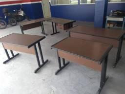 Mesas para escritório - marrom colonial - semi novas